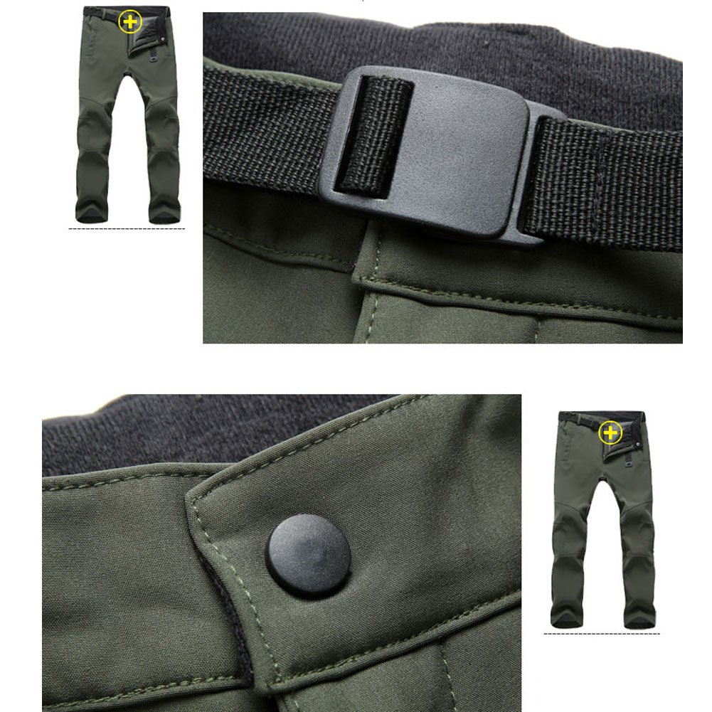 TBMPOY Mens Outdoor Quick-Dry Lightweight Waterproof Hiking Mountain Pants with Belt