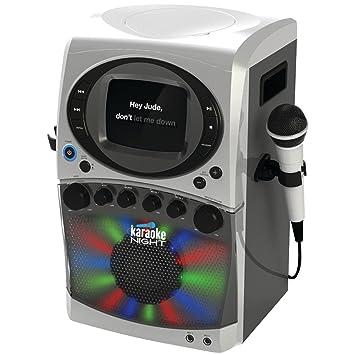 Cd G Karaoke Machine With Led Light Show Gray Kn200