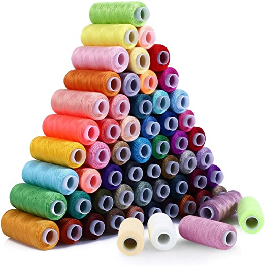 SOLEDI Kit de Costura de Bobinas de 60 Hilos de Colores para Coser ...