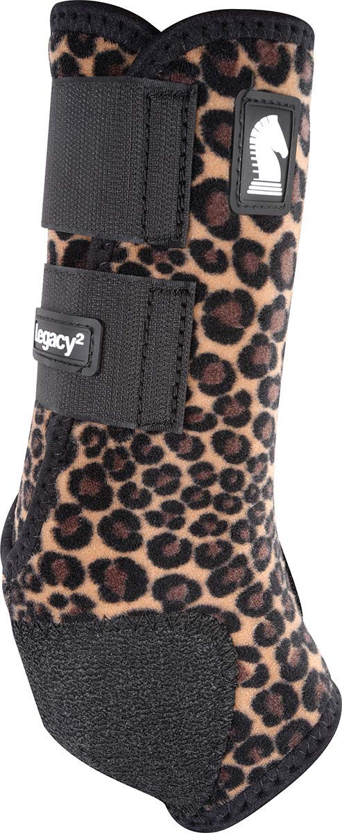 Classic Equine Legacy2 System Hind Boot (Pattern), Cheetah, Medium
