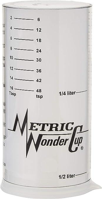 Amazon.com: Wonder Taza Taza de medir (Dos ajustable, tamaño ...
