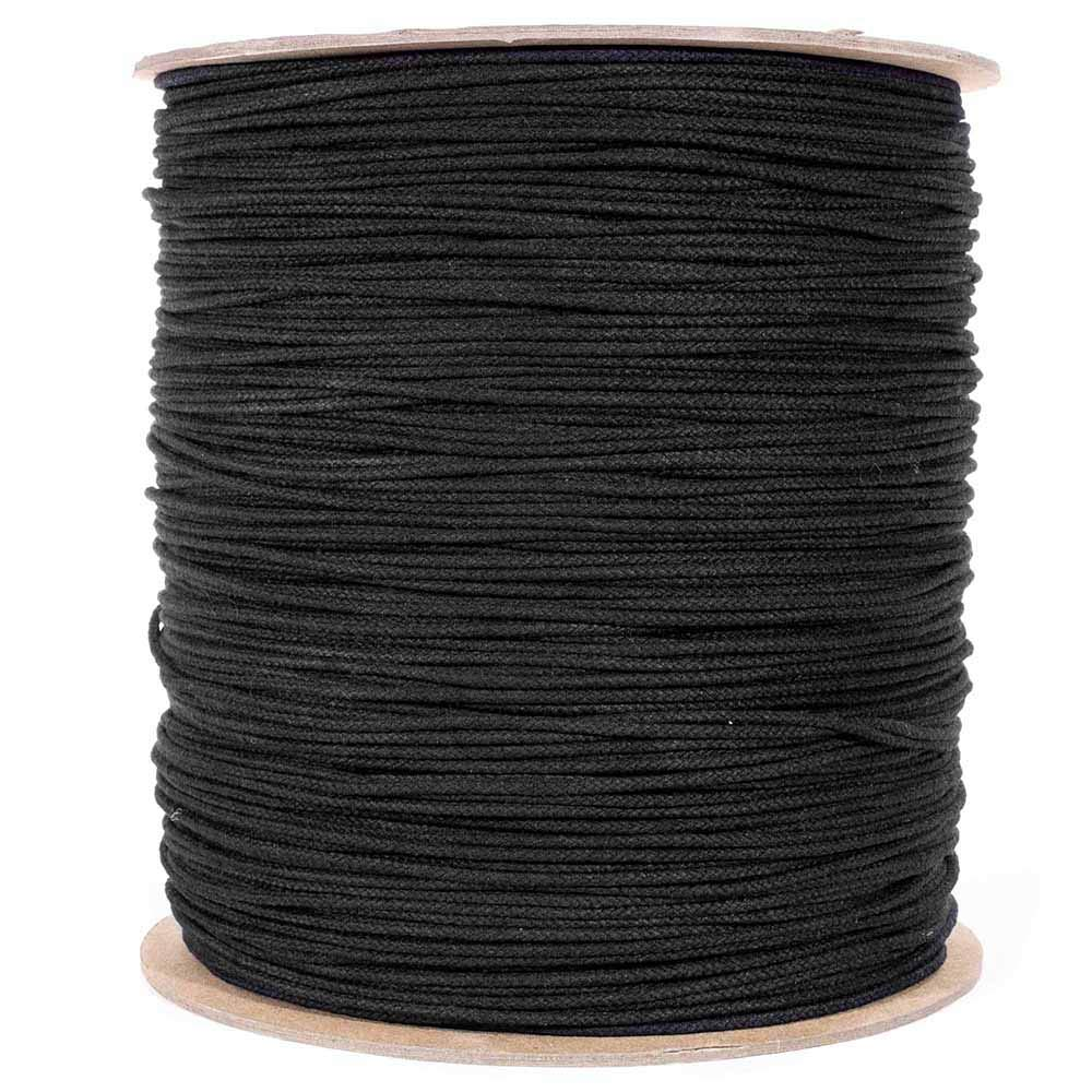 Uses Range from Outdoor Projects to Theatrical Uses Multipurpose Utility Line Unglazed - 1//8 Inch 250 Feet Black Cotton Tie Line Polyester Core - Theater Cord