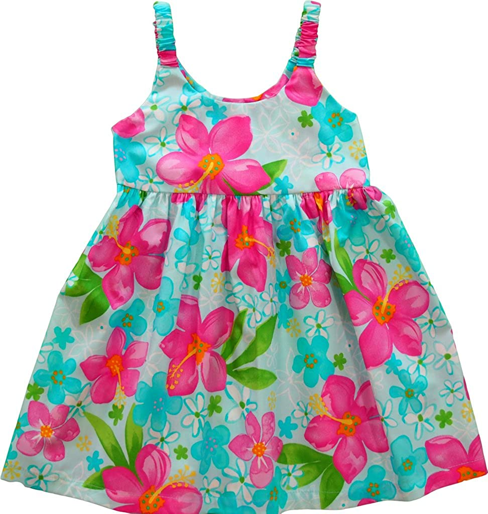 RJC Baby Girls Party Hibiscus Hawaiian Bungee Dress