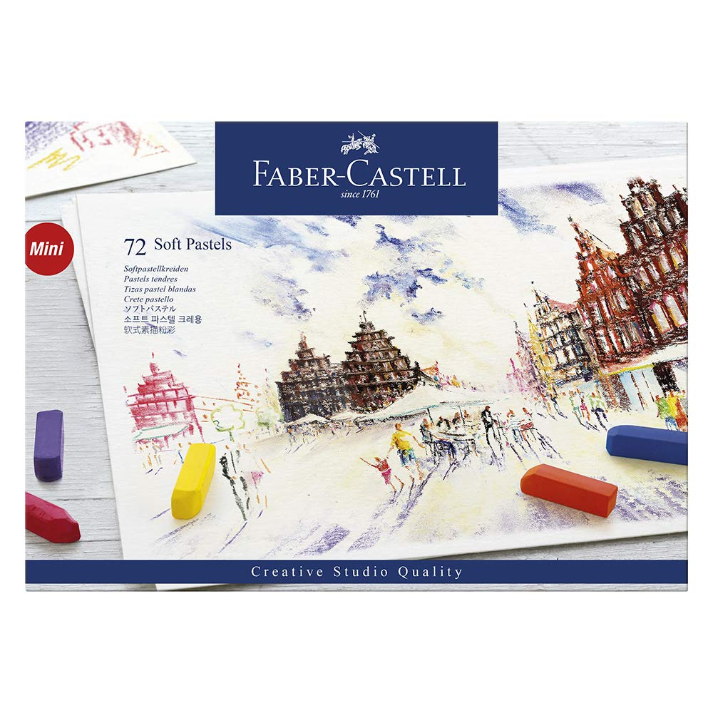 Faber-Castel FC128272 Creative Studio Soft Pastel Crayons (72 Pack), Assorted by Faber Castell
