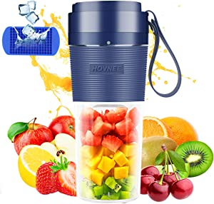 Portable Blender usb rechargeable 350ml Cordless, HOVNEE Mini Personal Blender Juicer with USB for shakes and smoothies Mixer Suitable for home, office, sports, travel, outdoor
