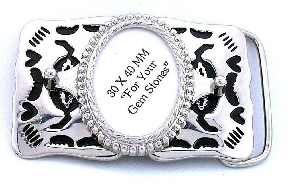 2e9f4e8093 Amazon.com: 40x30 40mm x 30mm Oval Cab Silver Color Southwest ...
