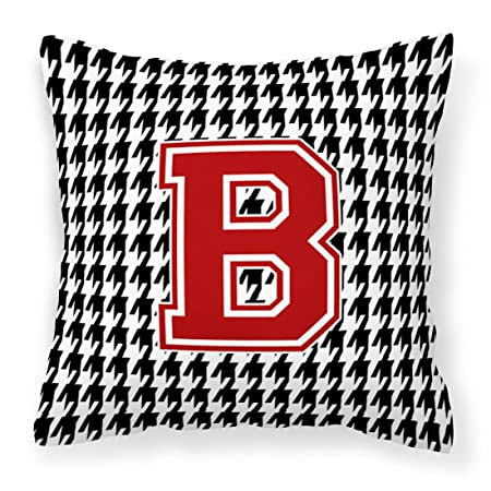 Amazon.com: Monogram – Inicial B Houndstooth tela ...