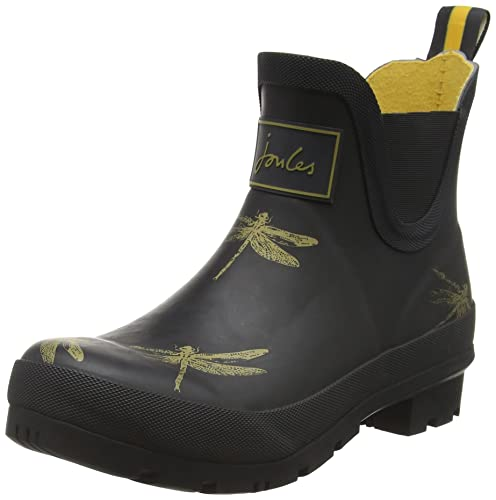 Tom Joule Damen Wellibob Gummistiefel, Black Dragonfly