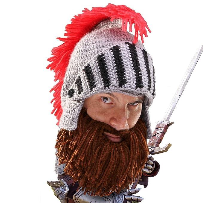 Beard Head Berretto Barba - Cavaliere - Cappello Divertenti con Barba Finta   Amazon.it  Abbigliamento 0f837a14b17a