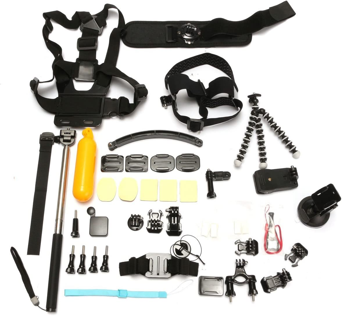 37 in 1 Wrist Chest Strap Monopod Mount Accessories Set Kit For Gopro 2 3 3 Plus 4 Xiaomi Yi SJcam
