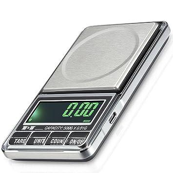 Lishi Báscula De Joyería Electrónica Báscula De Balanza Portátil De Precisión De Alta Precisión Mini Escala De Oro De Quilates 0.01G: Amazon.es: Hogar