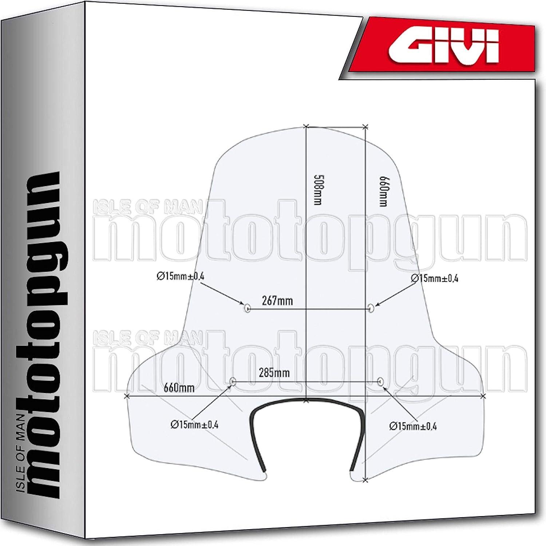 Givi Windschild 107a Kompatibel Mit Piaggio Liberty 50 2016 16 2017 17 2018 18 Auto