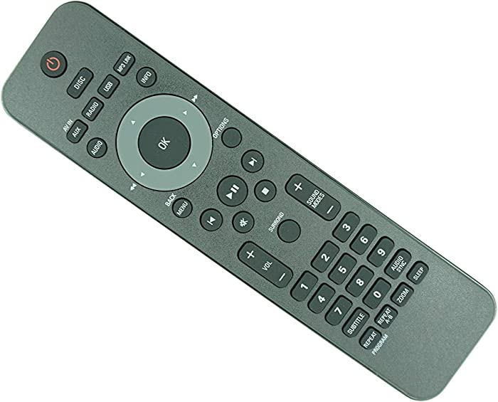 HCDZ Replacement Remote Control for Philips HSB2351 HSB2351/F7 HSB2351/F7E HSB2351/F7B HSB2351/51 HSB2351/55 HSB2351/58 HSB2351X/78 DVD Home Theater System