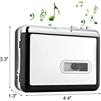 CamKing Cassette Converter,Cassette Tape Recorder Player Tapes to MP3 Digital Converter,Portable Tape Player Captures MP3 Audio Music via USB