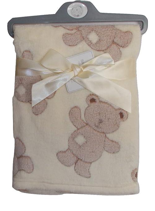 Infantil Manta para bebé, manta, cuna, guardería, Teddy, diseño de oso