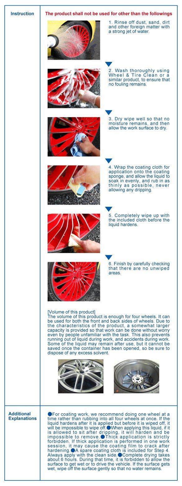Anti Rusting Wheel Glass Coating Wheel Crystal 50ml by SENSHA