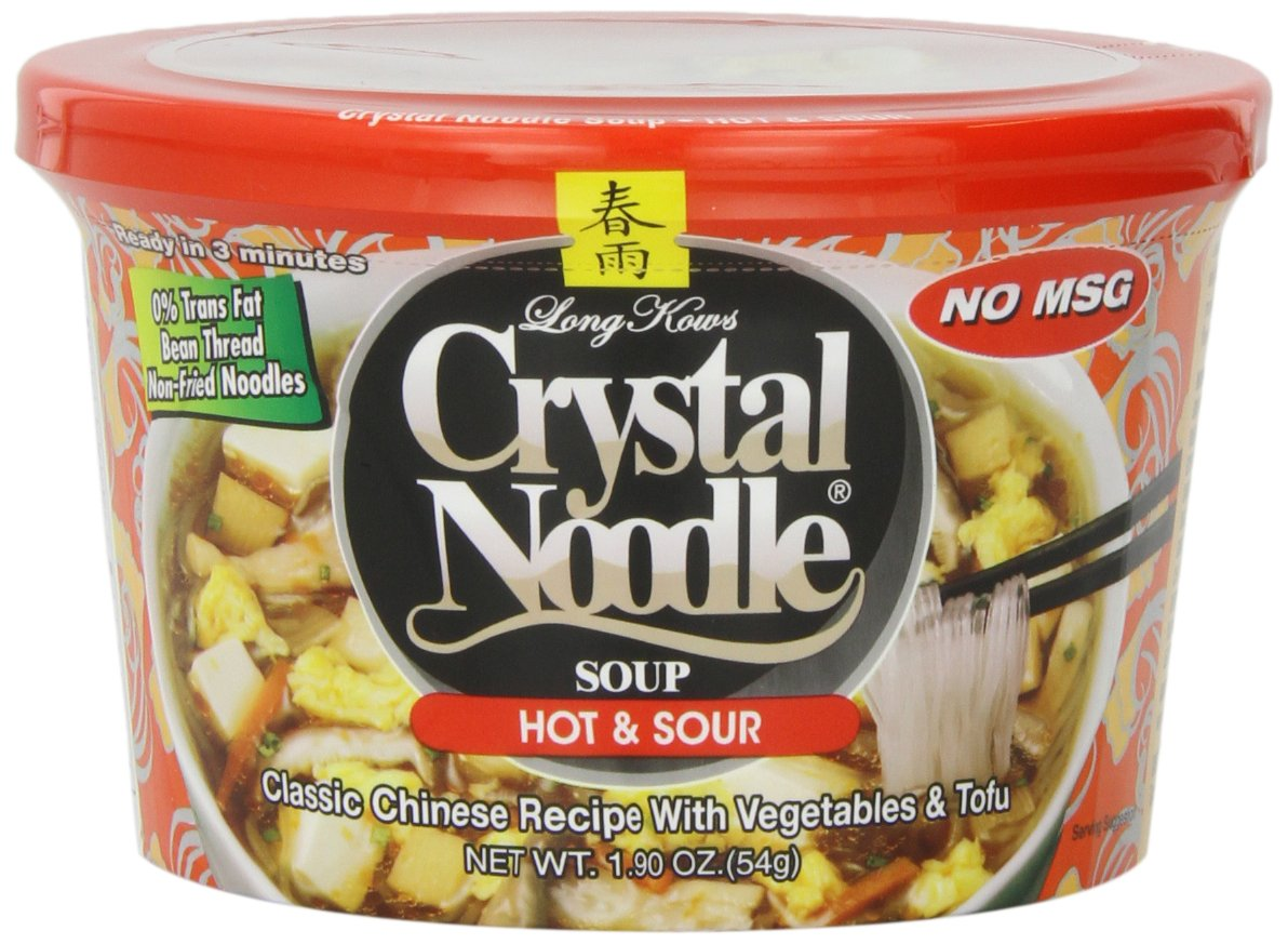 Crystal Noodle Soup, Hot & Sour, 1.9 Ounce (Pack of 6) by Crystal Noodle