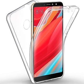 3eaf671f2eb Sunwine Funda Redmi S2 Carcasa, Transparente Ultra Fina Doble 360 Grados  Full Cover Integral de Silicona TPU Delantera + Trasera rigido PC Funda  para Xiaomi ...