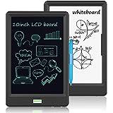 """10 """" Tableta de Escritura LCD y Pizarra Blanca 2 en 1 - Tablets de Dibujo con Pantalla LCD, Pizarra portátil (Negro)"""
