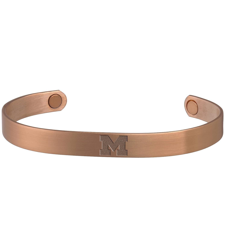 Michigan Wolverines銅と磁気ブレスレット B076HS3ZMY