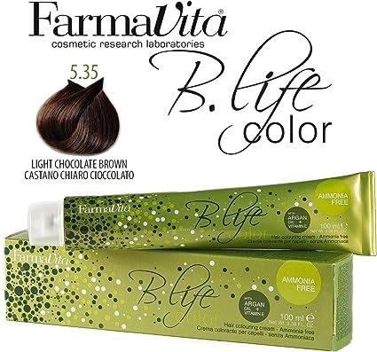 FarmaVita Life Color Tinte Capilar sin Amoniaco 5.35-100 ml (8022033011145)