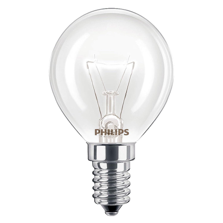 Philips - Lampadine da forno, da 40 W, SES, E14, attacco a vite, resistente fino a 300°, per forni AEG, Bosch, Siemens, Neff, Hotpoint, confezione da 4 [Classe di efficienza energetica F] resistente fino a 300°