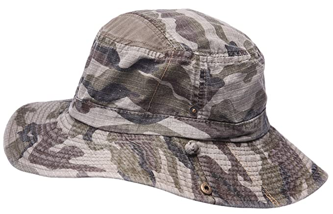 e435292abc3 MINAKOLIFE Mens 100% Cotton Fishing Hat Boonie Bucket Hat Cap with String  Green