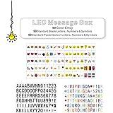 LitEnergy Cinema Sign, compreso il 270 lettere nere, pastello a colori lettere, pastello a colori Emojis e speciali simboli decorativi per l'uso con A4 Cinematic Light Box