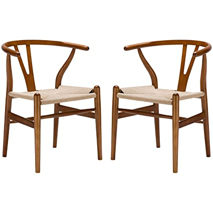 Poly And Bark Weave Chair In Walnut (Set Of 2)