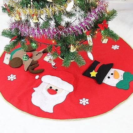 chichic 39 christmas tree skirt 3d snowmansantadeer printed holiday tree ornaments xmas holiday tree decoration