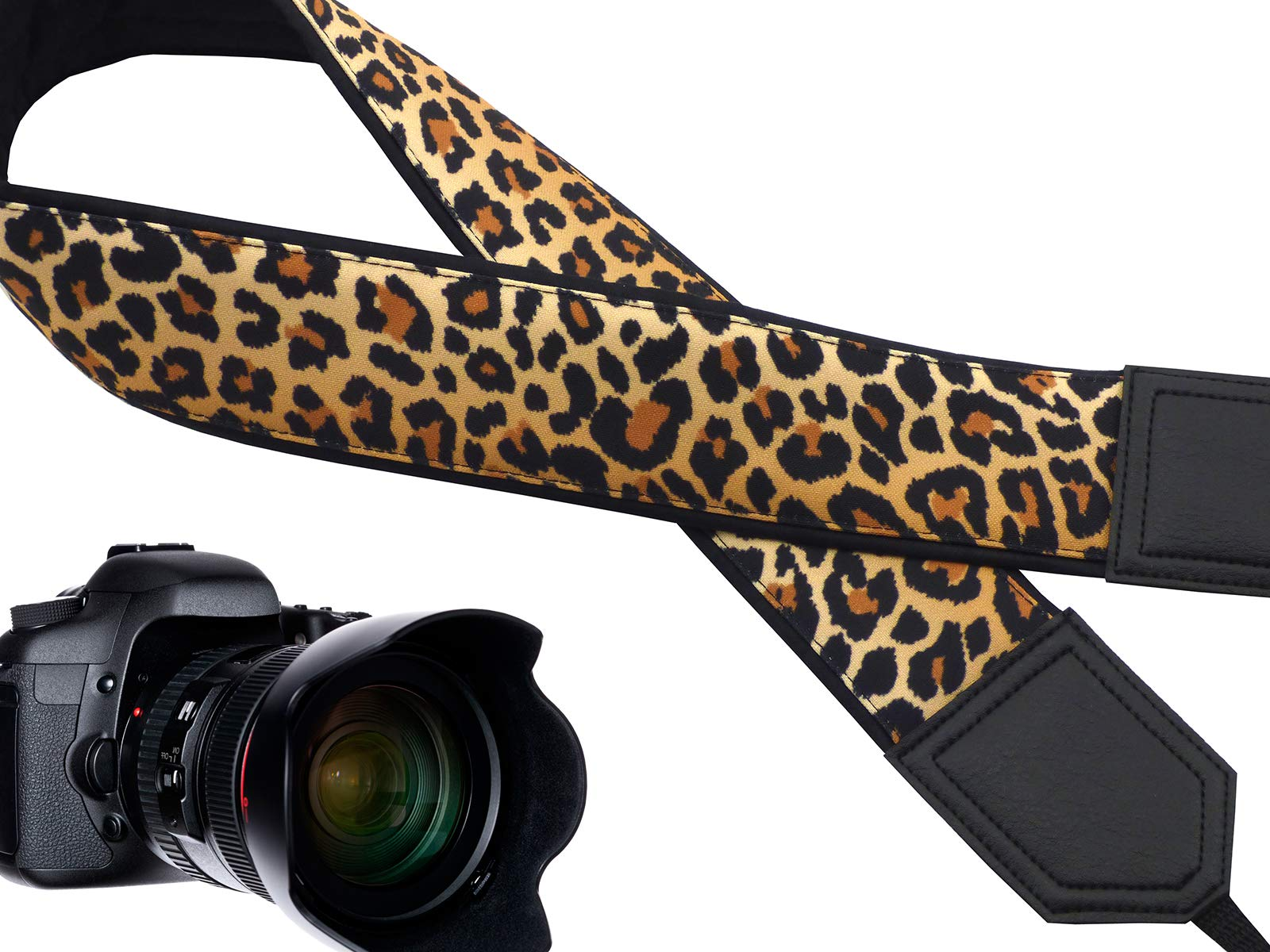 Leopard Camera Strap Designed for Wild Animal Lovers Suitable for DSLR/SLR and Other Standard Cameras.