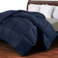 Utopia Bedding Edredón de Fibra 200x200 cm, Fibra Hueca siliconada, 1400 gramo - (Azul Marino, Cama 105-200 x 200 cm)