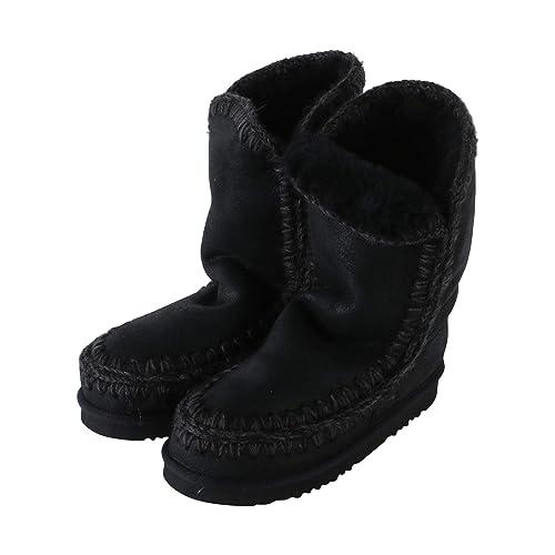 Mou Stivaletto Eskimo Boot 24 cm Cracked Black Grey Nero 38  Amazon.it  Scarpe  e borse fa064cbd728