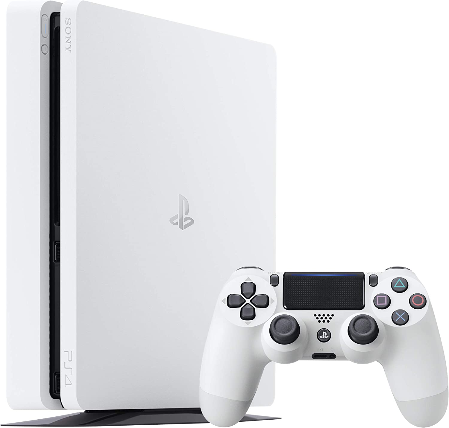 Sony PS4 500GB Slim Glacier White Blanco Wifi - Videoconsolas (PlayStation 4, Blanco, 8192 MB, AMD Jaguar, AMD Radeon, Unidad de disco duro): Amazon.es: Videojuegos