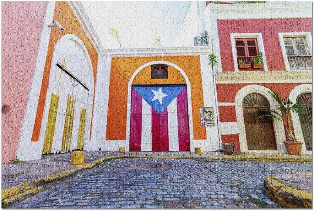 ACCYT HD Viejo San Juan Puerto Rico - Bandera Colorida en el Edificio en la Calle 9033607 (¡Rompecabezas Premium de 500 Piezas de 52*38 cm Hecho en EE. UU.!): Amazon.es: Juguetes y juegos