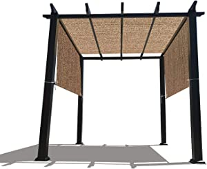 Alion Home Custom HDPE Permeable Canopy Sun Shade Cover Replacement with Rod Pockets for Pergola (14' x 6.5', Walnut)