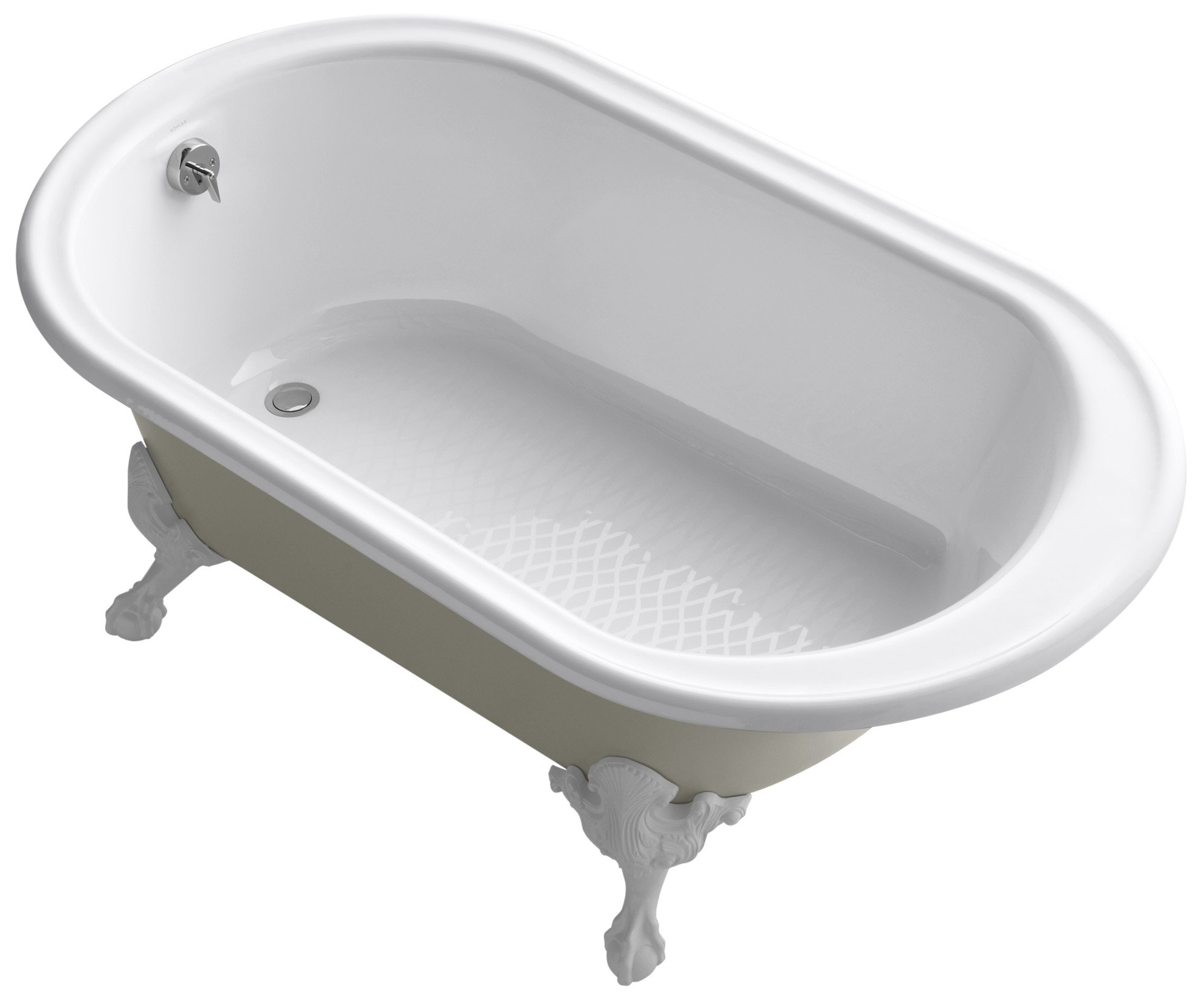 Kohler K-710-S-0 Iron Works Historic Bath with Sandbar Exterior, White by Kohler (Image #1)