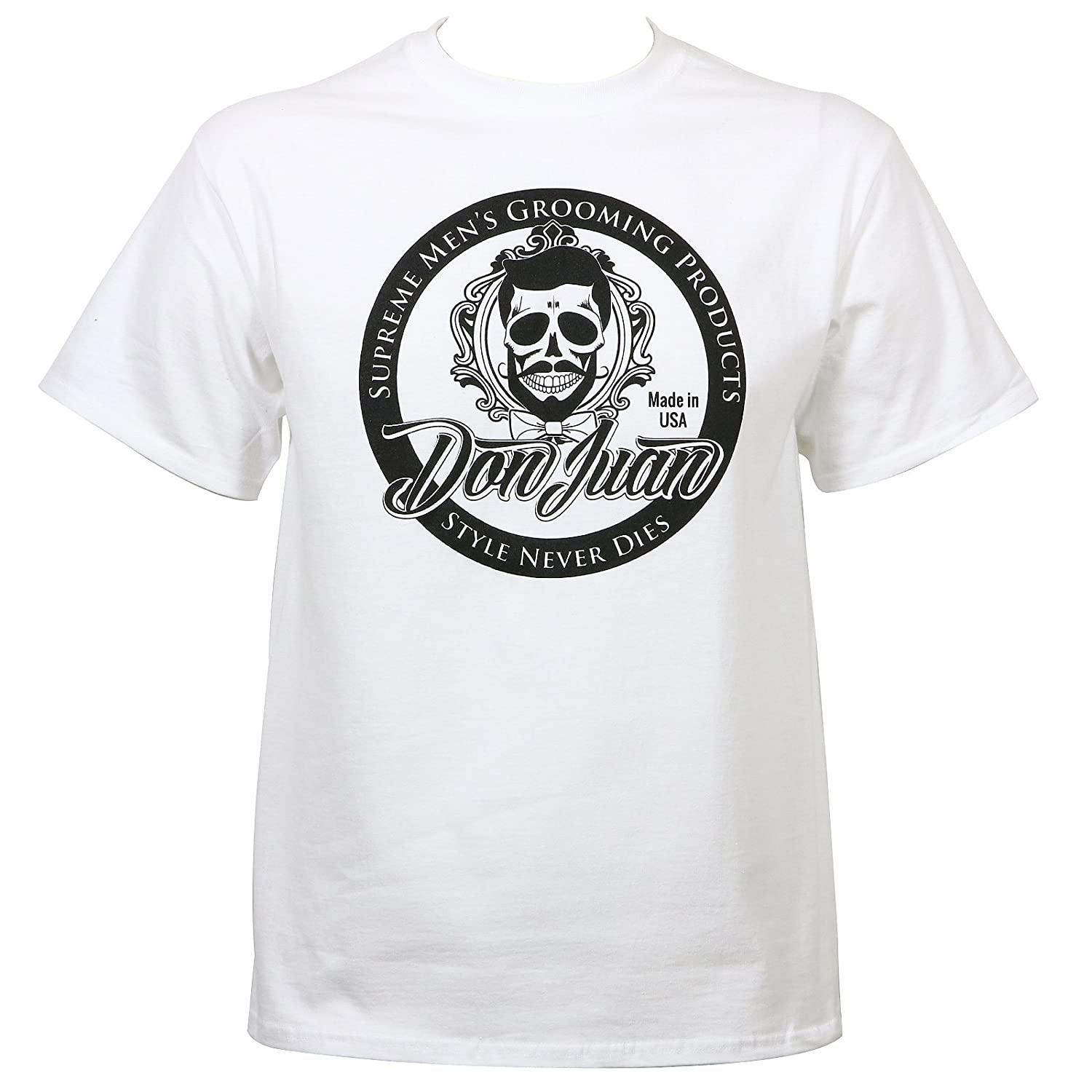 Don Juan Pomade Mens Seal Logo T-Shirt White