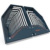 Presch Innensechskantschlüssel Satz HX 30 teilig - Innensechskant Schlüssel Set Metrisch/Zoll kompakt mit Box