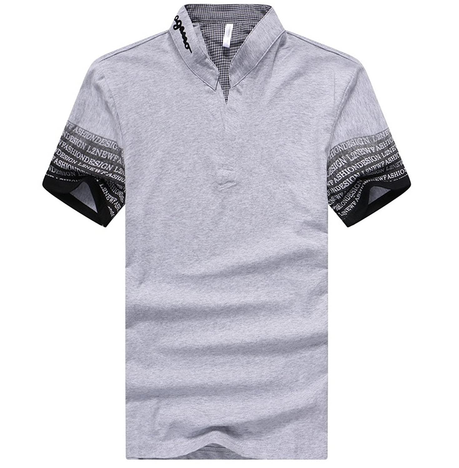 Giles Abbot Mens Polo Shirt With Printed Short Sleeve 2018 New Solid
