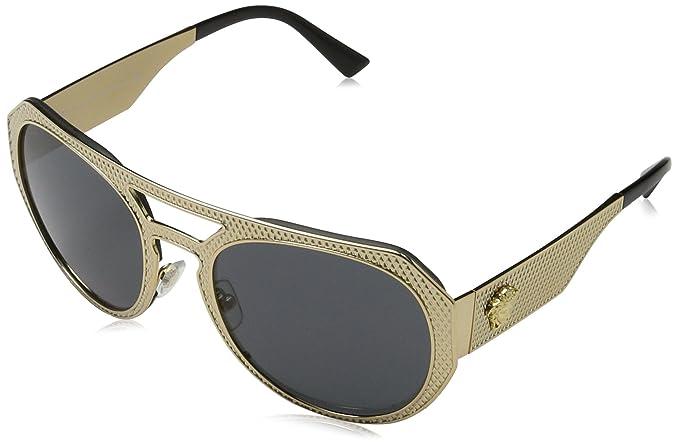 Amazon.com: NUEVO Versace VE 2175 – Gafas de sol Hombres Oro ...