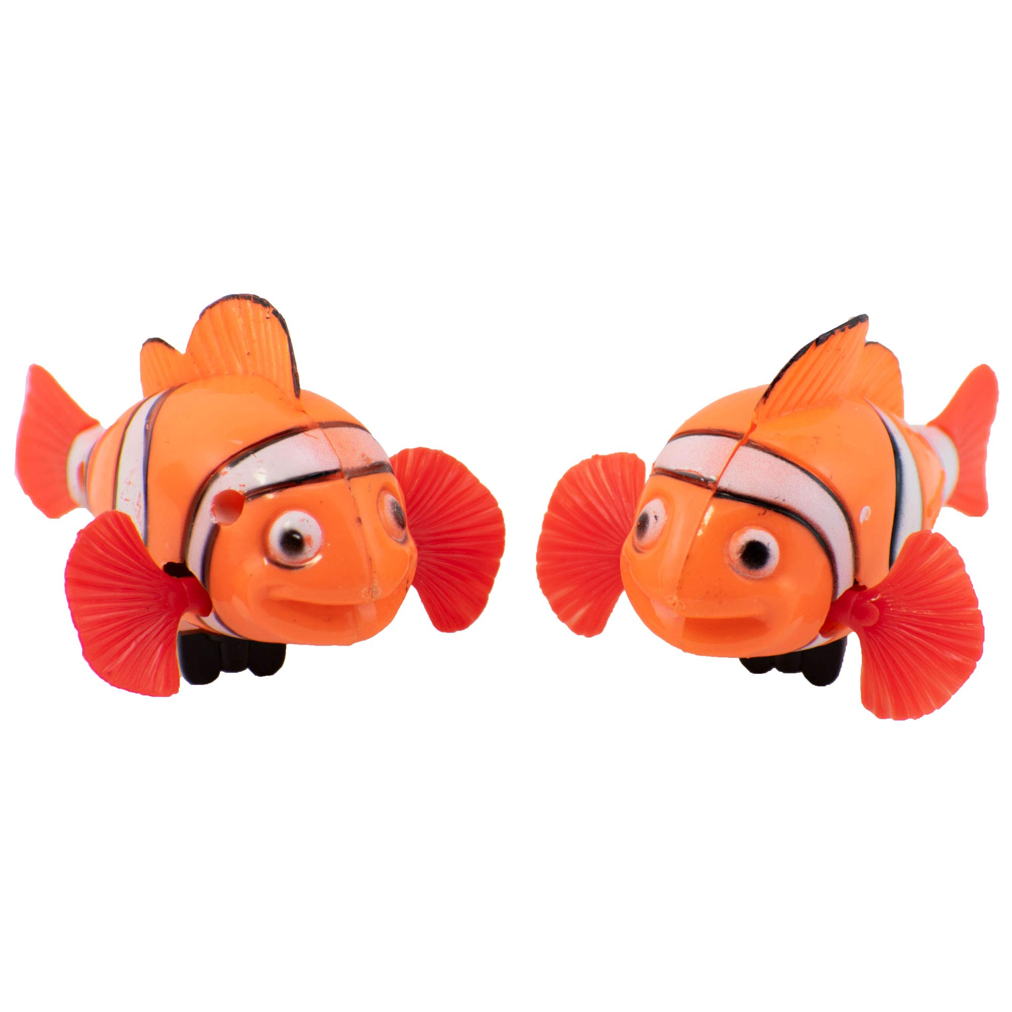 Giggle Time Wind-Up Swimming Clownfish - (24) Pieces - Bright Colors - for Kids, Boys and Girls, Party Favors, Pinata Stuffers, Children's Gift Bags, Carnival Prizes