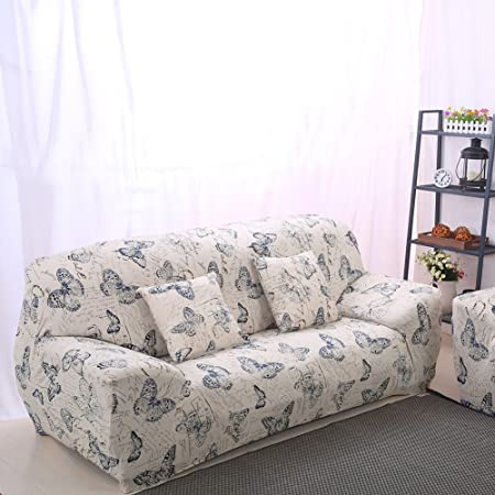 Pleasing Yunhigh 2 Seater Sofa Cover Elastic Settee Loveseat Slipcover Stretch Double Sofa Protector Patterned Ibusinesslaw Wood Chair Design Ideas Ibusinesslaworg