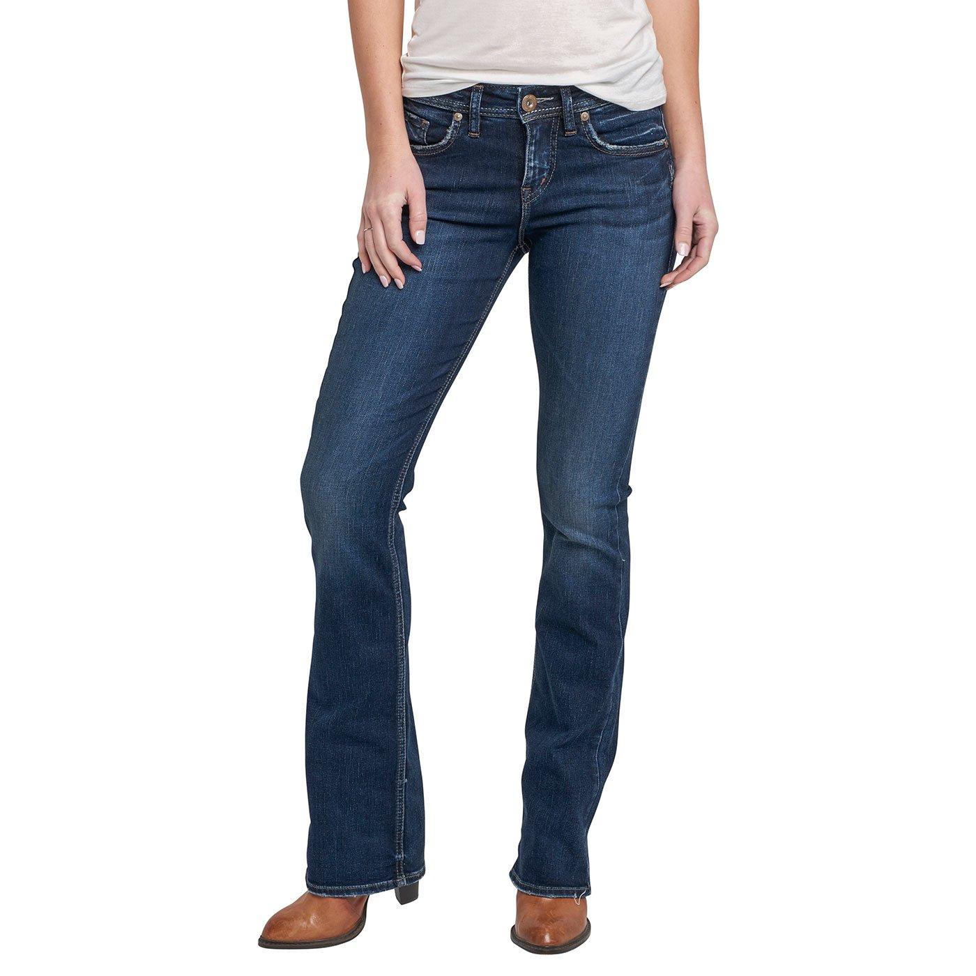 Silver Jeans Co. PANTS レディース B072BQJFSF 29 x 33L Slim|Dark Clean Pocket Dark Clean Pocket 29 x 33L Slim