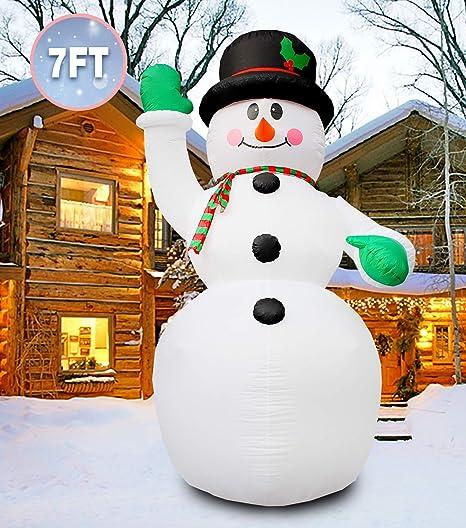 Amazon.com: PARAYOYO - Muñeco de nieve inflable de 7 pies ...