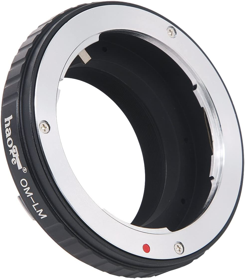 MP M Monochrom M3 M4 M10 M7 M-P M-A M9-P M-E M2 M240P M262 M5 M9 M6 Haoge Lens Mount Adapter for Olympus OM Zuiko Mount Lens to Leica M LM Mount Camera Such as M240 M1 M M8