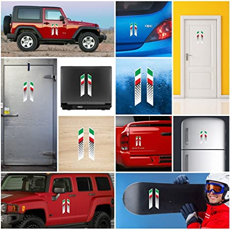 f7054226e871e1 Decals Decal Italy italian flag racing stripes Vehicle Weatherproof Sports  car Helmet 0500 ZKX6W  Amazon.co.uk  Kitchen   Home