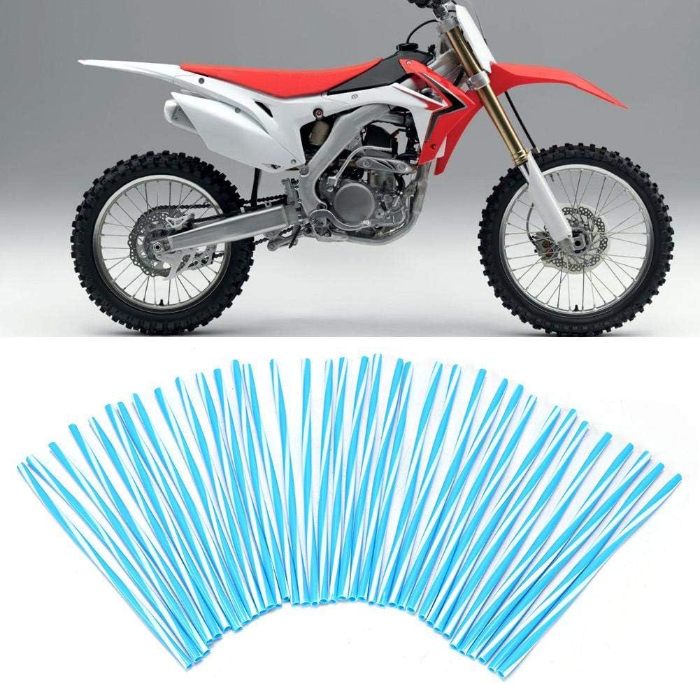 17cm Motorcycle Off Road Bike Guard Wraps Wheel Spoke Protector Orange White Stripe 36pcs Motorcycle Wheel Spoke Covers