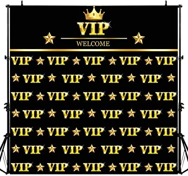 Amazon Com Golden Vip Step And Repeat Banner Photography Backdrop For Events 6x6ft Background Great As Party Prom Family Class Business Banner Photo Booth Studio Props Lylu976 Camera Photo