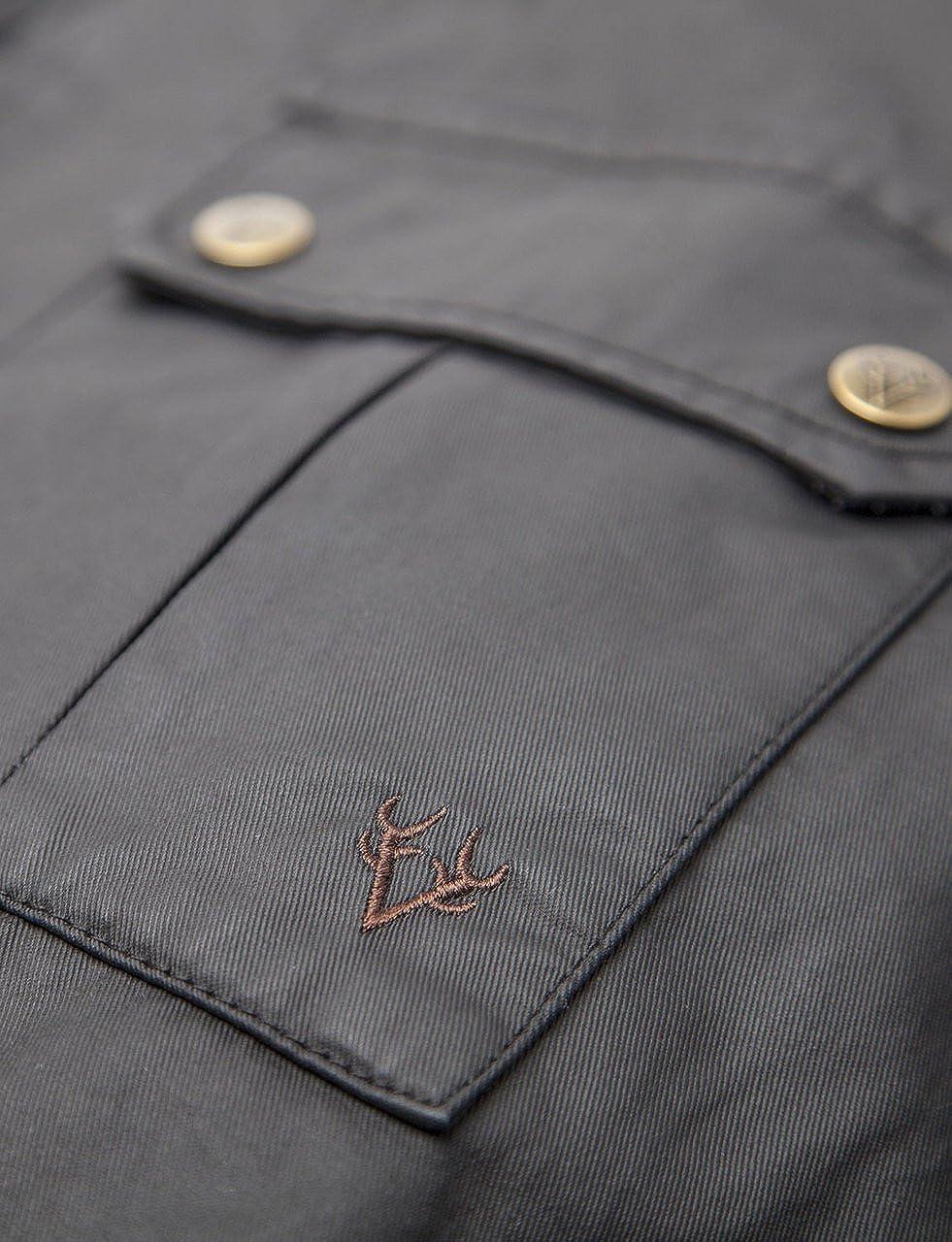 VEDONEIRE Chaqueta para hombre wax jacket (3050 BROWN)chaqueta abrigos de cera de algodón marrón: Amazon.es: Ropa y accesorios